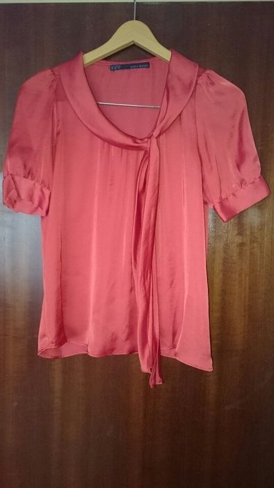 10,- Elegante Bluse von ZARA mit Schleife - kleiderkreisel.at