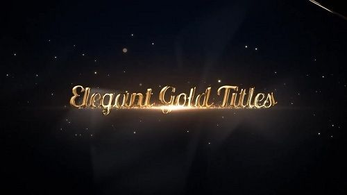 Elegant Gold Titles 57885 After Effects Templates… | News https ...