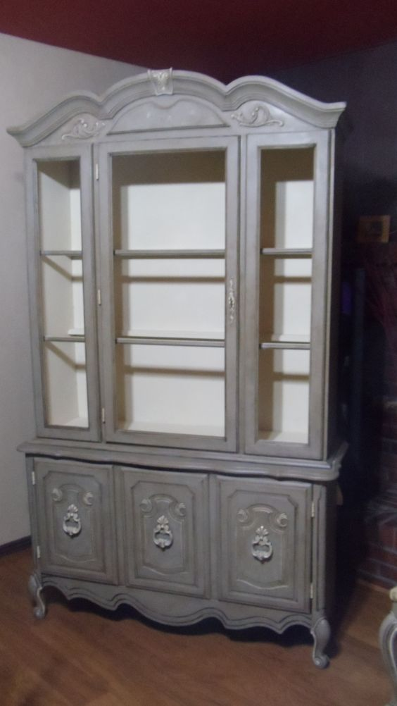 Best China Cabinet Painted In Annie Sloans Chalk Paint Coco 400 x 300