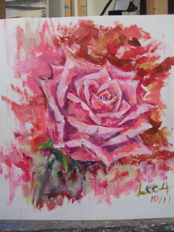 (Rose 2), acrylic paining,  38cm x 54cm