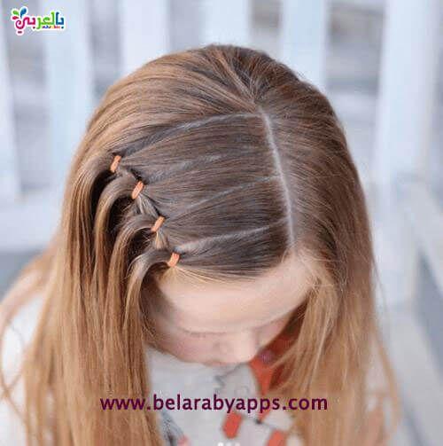 تسريحات اطفال سهلة ومميزة للمدرسة Kids Hairstyles Girls Girls Hairstyles Easy Toddler Hairstyles Girl