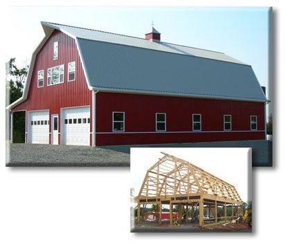 Pole barns barns and pole barn construction on pinterest for Barn designs with living quarters