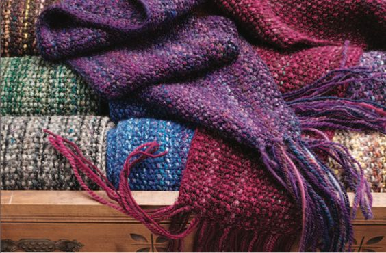 Knitting Patterns For Wool Scraps : Knitted scarves, Scrap and Scarfs on Pinterest