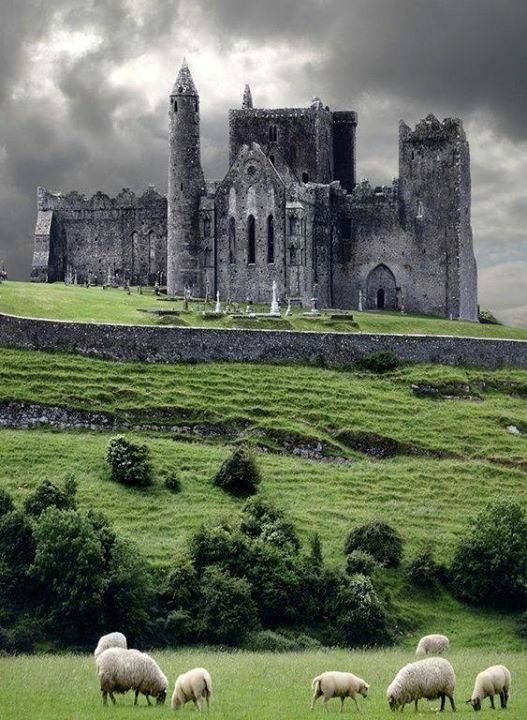 Medieval castle Cashel, Ireland. The Rock Of Cashel.: