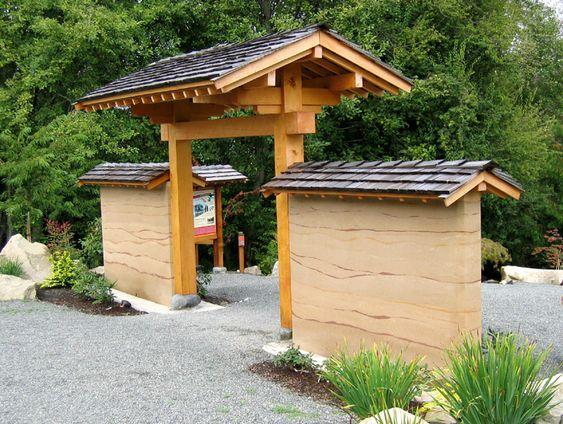 Japanese style gate wooden gate pinterest style for Japanese garden gate