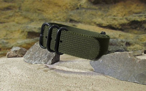 The Brigade XII Z5™ Nato Strap w/ PVD Hardware (Stitched) 26mm