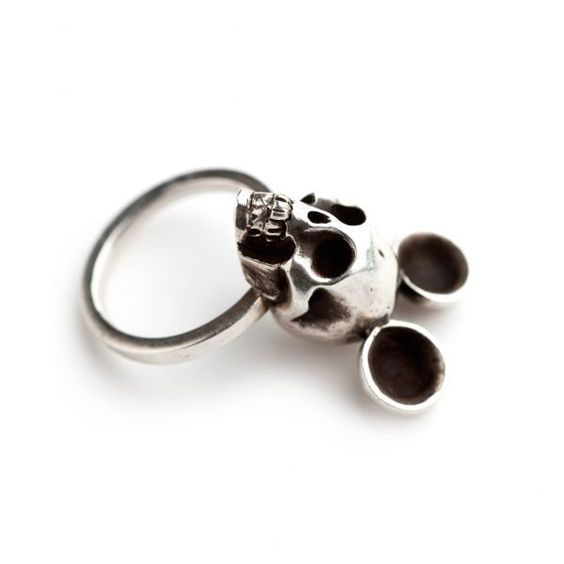Mickey Mouse skull ring