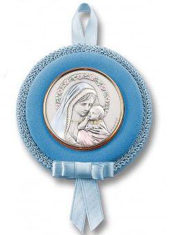 Medalla para cuna con lámina de plata (niño)
