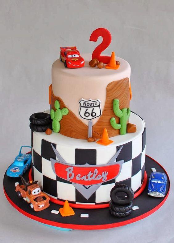 Disney Cars Lightning McQueen Cake