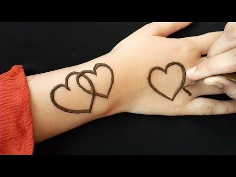 Full Hand Most Beautiful Heart Mehndi Design Simple Easy