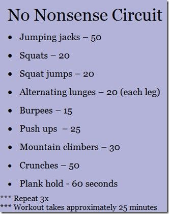 ~25 min home workout