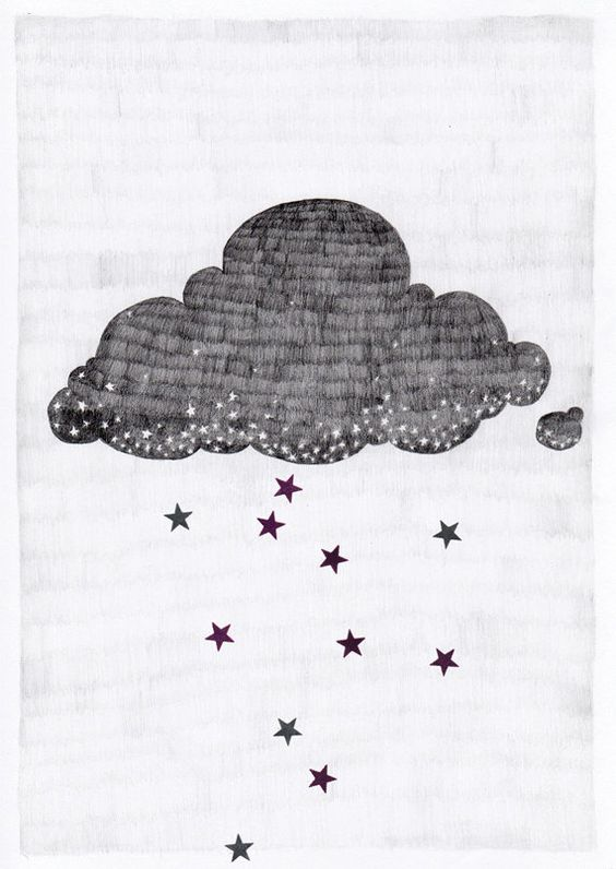 Stargazer cloud A3 print | via Etsy | Hushil Sander.: