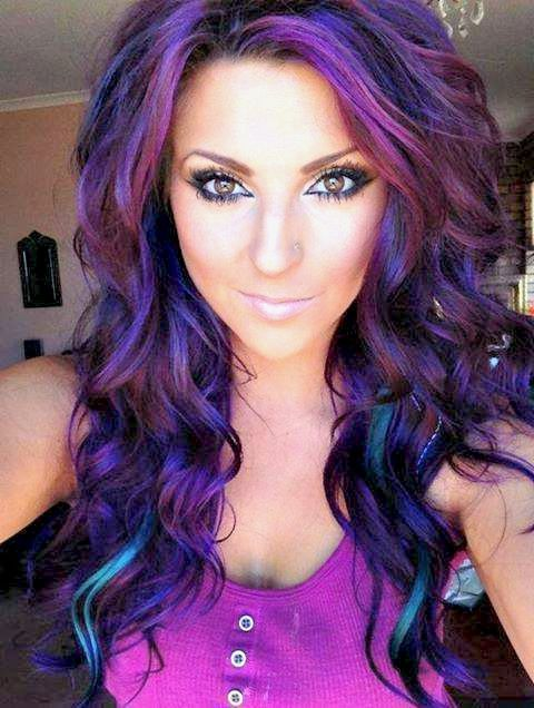 The Gallery For Gt Purple Eggplant Hair Color