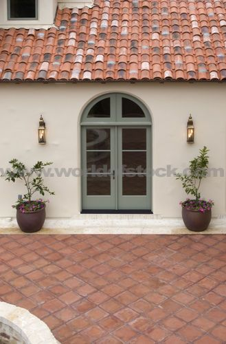 Stucco Walls The Doors And Tile On Pinterest