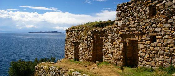 Isla de la Luna ruins on Lake Titicaca.