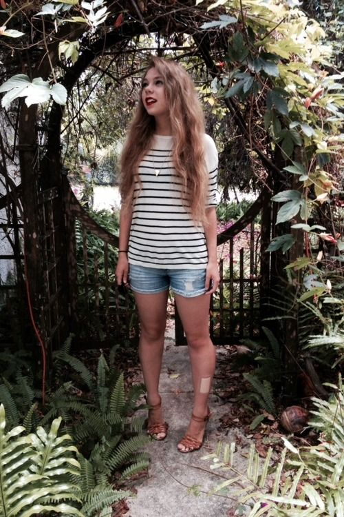 stripes & shorts   woods full of monsters
