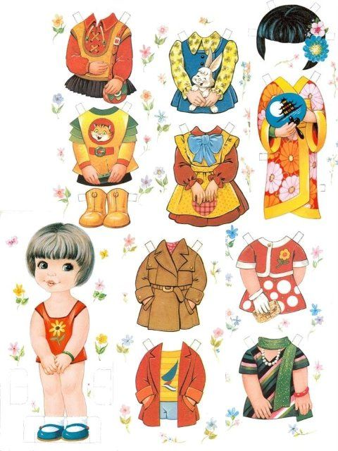 Les belles classic - 5 pages of paper dolls. Babies to boys and girls to teens.