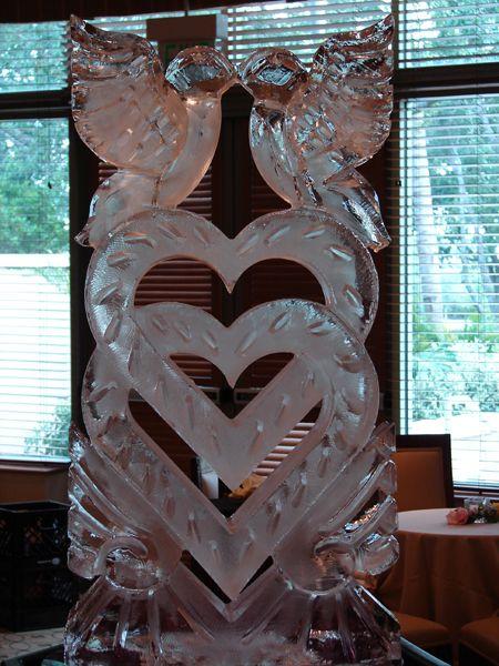 Ice Sculptures for Weddings   ... lovebirds ice sculpture is my signature wedding heart sculpture that