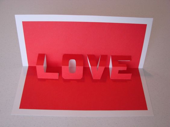 DIY Pop Up Word Card by craftcrossing #Card #Pop_Up_Card #craftcrossing