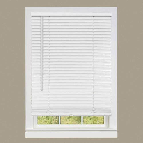 Cbc Custom 2 Faux Wood Blinds White W Crown Valance Faux Wood Window Blinds Wood Blinds