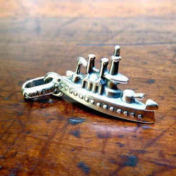Battleship Charm Sterling  by GOOD ART HLYWD