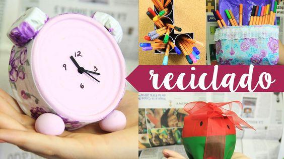 objetos #decorativos para tu #hogar con materiales reciclables