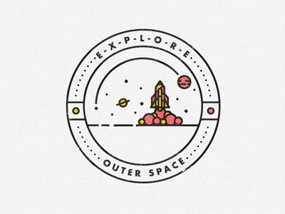 THE WORK OF STUDIOJQ / OUTER SPACE Badge