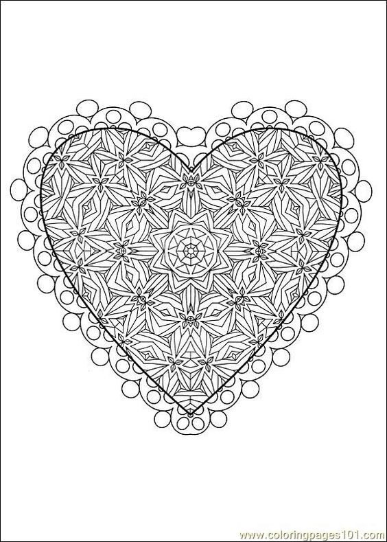 valentine's day coloring pages | Coloring Pages Valentine Day Coloring 18 (Holidays > Valentine's Day ...