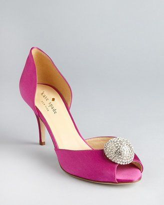 ShopStyle: kate spade new york Peep Toe Evening Pumps - Stimson