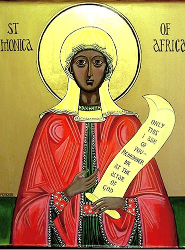 St. Monica of Africa Icon - beautiful!