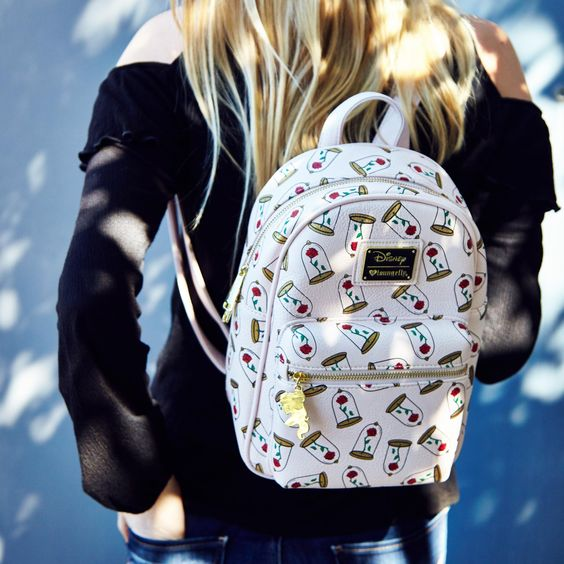   Loungefly Disney Beauty And The Beast Enchanted Rose Mini Backpack - BoxLunch Exclusive
