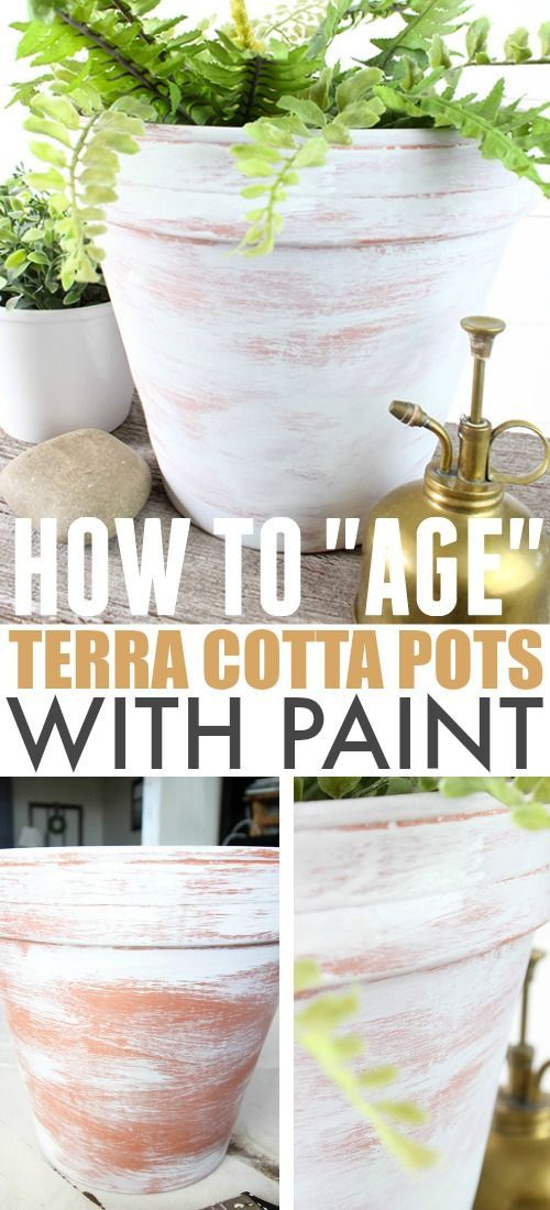 How To Age Terra Cotta Pots With Paint The Creek Line House Aging Terra Cotta Pots Terracotta Pots Diy Terra Cotta Pots