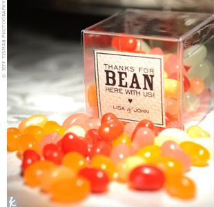 Jelly beans! Change to thanks for 'bean' such a great teacher