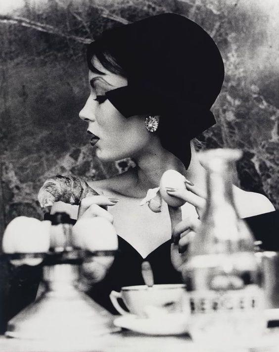 Mary, Egg and Croissant.Paris.1957  WILLIAM KLEIN
