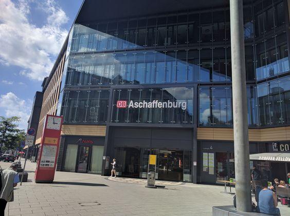 Aschaffenburg Hauptbahnhof am 13.08.2016.