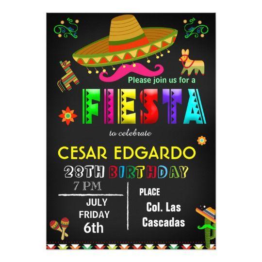 Invitación Mexicana Del Cumpleaños De La Fiesta Zazzle Es