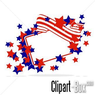 CLIPART US FLAG FRAME