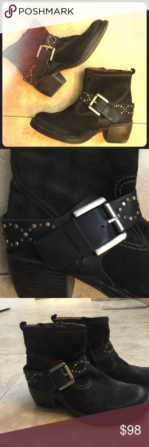 Josef Seibel Suede booties Gorgeous and soft suede booties with cool studded detail. Brand new never worn! Josef Seibel Shoes Ankle Boots & Booties