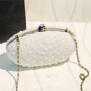 范冰冰款晚宴包vivi日系珍珠水钻石包新娘手拿包珍珠包女包链条包-淘宝网