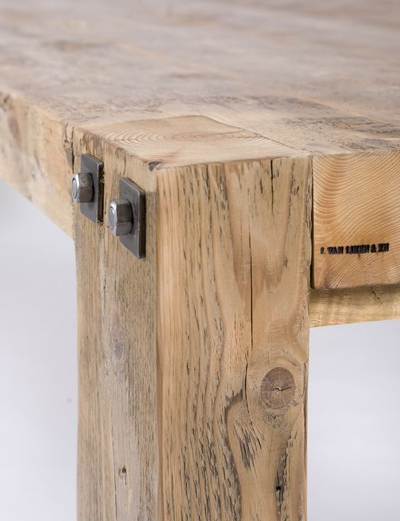 Construction industrielle de mobilier en bois le bois - Table haute industrielle bois ...