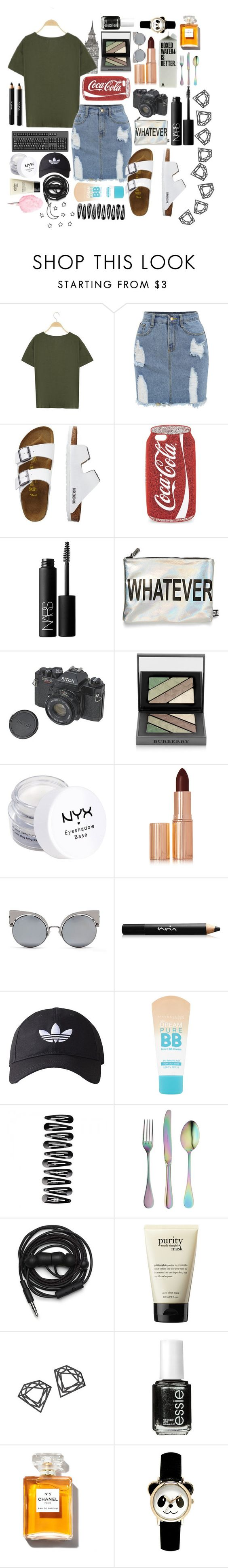 """Untitled #76"" by dancewithshira ❤ liked on Polyvore featuring TravelSmith, Skinnydip, NARS Cosmetics, Circus By Sam Edelman, Burberry, NYX, Charlotte Tilbury, Fendi, Noir Cosmetics and adidas Originals"