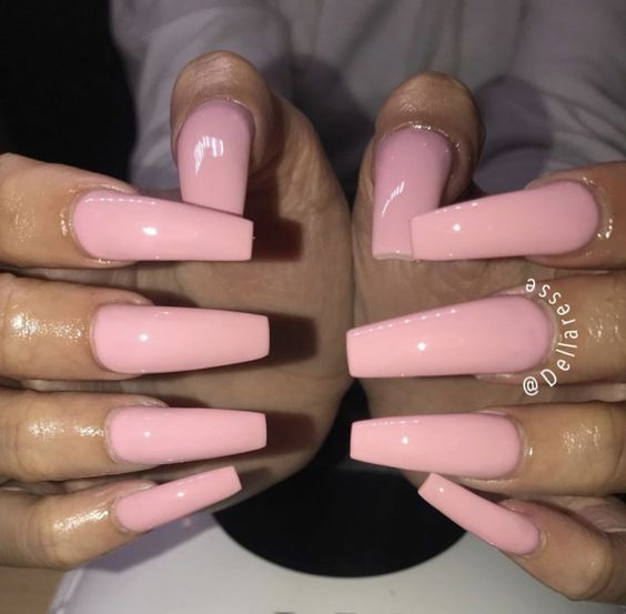 Have A Look At Our Coffin Acrylic Nail Ideas With Different Colors Trendy Coffin Nails Acrylic Nails Different Trendy Nails Pink Nails Square Acrylic Nails