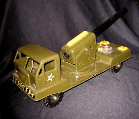 LOWER PRICE Vintage Nylint Toy Truck Army Cannon