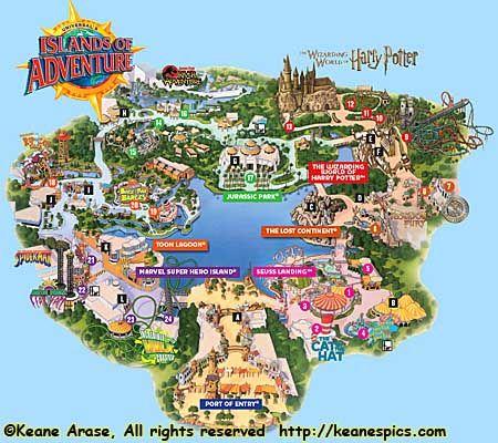 Universal Studios Islands Of Adventure Map 2017 image information