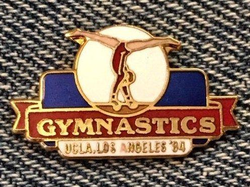 Gymnastics Olympic Pin Balance Beam 1984 La Venue Site Ucla Cloisonne By Magarita Gymnastics Olympic Sports Olympics