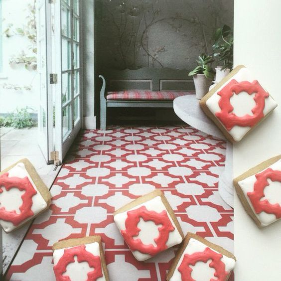 Neisha Crosland Parquet Red tiles by Harvey Maria - looking rather tasty!