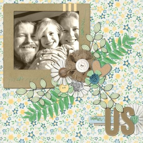 """Made with """"The Good Earth"""" by Shel Belle Scraps fron Scraps N Pieces."""
