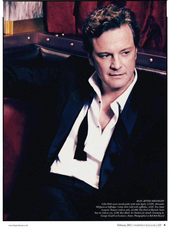 Colin Firth UK Harper's Bazaar