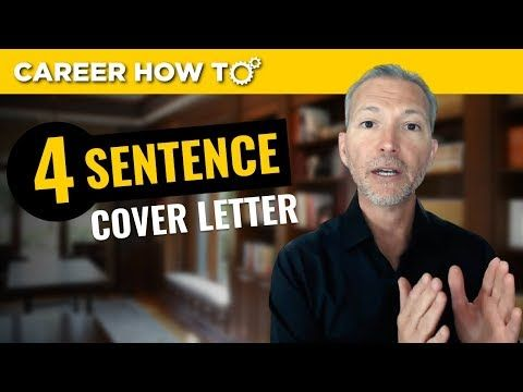 Join Career Expert And Award Winning Author Andrew Lacivita As He Teaches You Exactly How To Write The 4 Senten Executive Jobs Job Interview Tips Job Interview