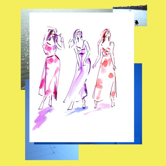 Nice weather hope it last all day!   #illustration #fashionillustration #watercolor